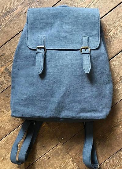 Aura Que Caha vegan rucksack in blue