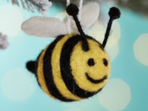 Sass and Belle Felt bee hanging