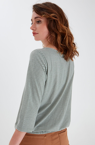 Fransa Stripey top in lily pad