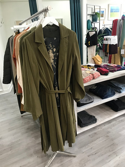 Fransa Matwill olive coat