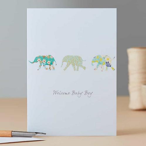 Eloise Hall new baby elephant card - boy/girl