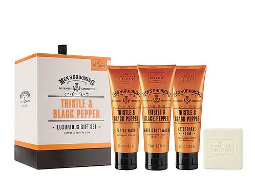 Scottish Fine Soap - Luxurious gift set Thistle & Black Pepper