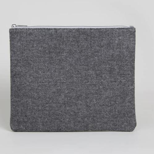 Grey wash bag felt and velvet - medium