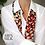 Thumbnail: Red multi dot print silk scarf