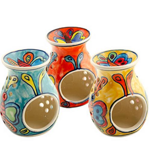 Hand painted ceramic burner