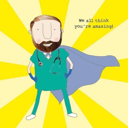 Rosie made a thing medical boy card