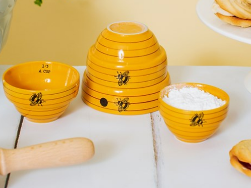 Sass and Belle Bee Hive measuring bowls