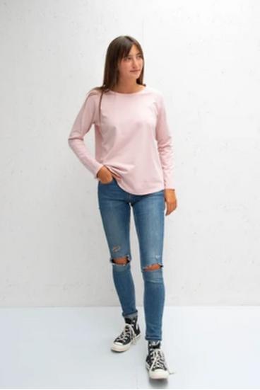 Chalk tasha pink long sleeved tee