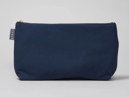 Chalk navy wash bag - small