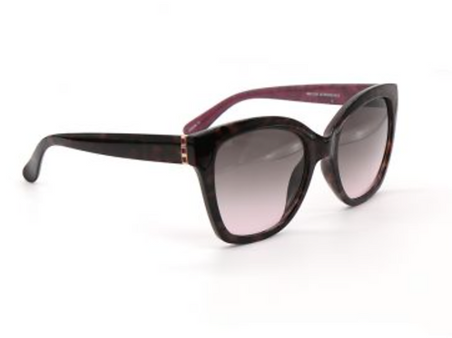 Sunglasses - tortoiseshell with gold & magenta detail