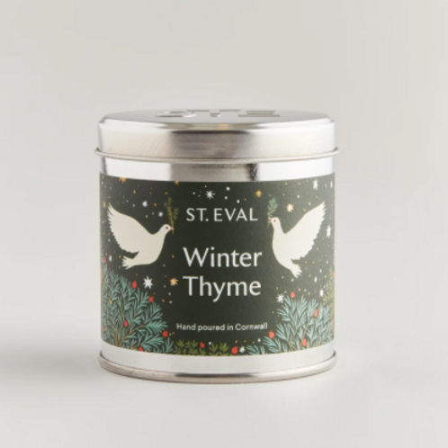 St Eval winter thyme tinned candle