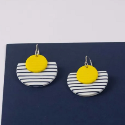 Nadege Honey - Breton Guerande yellow earrings