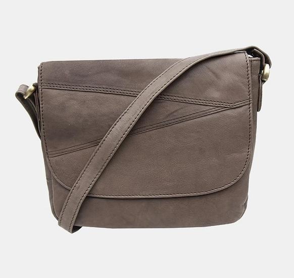 Primehide Crumble leather shoulder bag - Mushroom