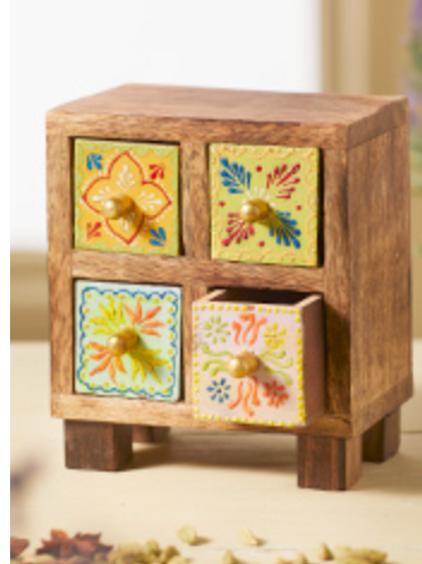 Mango wood 4 drawer chest