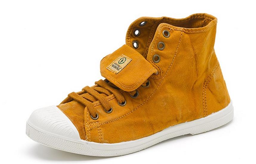 Natural World vegan friendly boots in mustard
