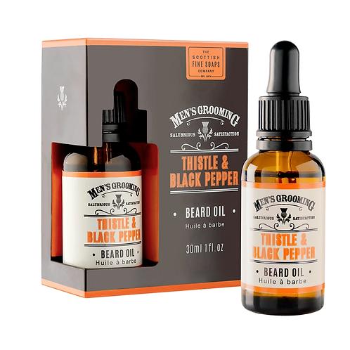 Scottish Fine Soaps - Thistle and black pepper beard oil