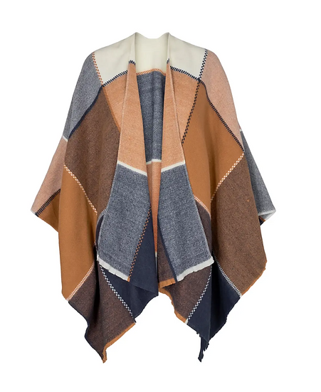 Numph Nubillie poncho in cathay spice
