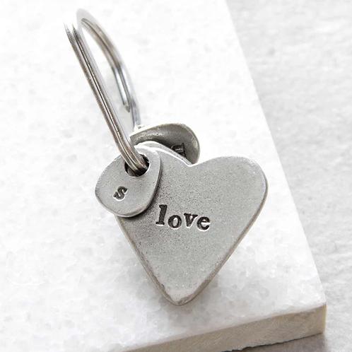 Heart for love keyring