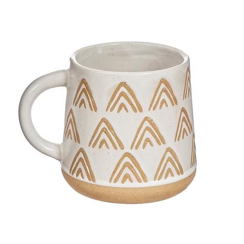 Sass and Belle White triangle mug