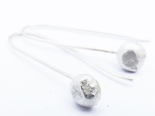 Sarah Drew fused moon earrings
