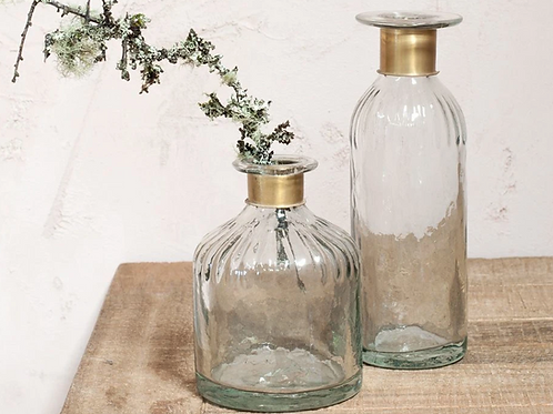 Nkuku Chara tall glass vase