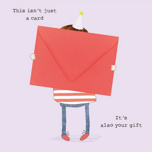 Rosie made a thing - card also your gift