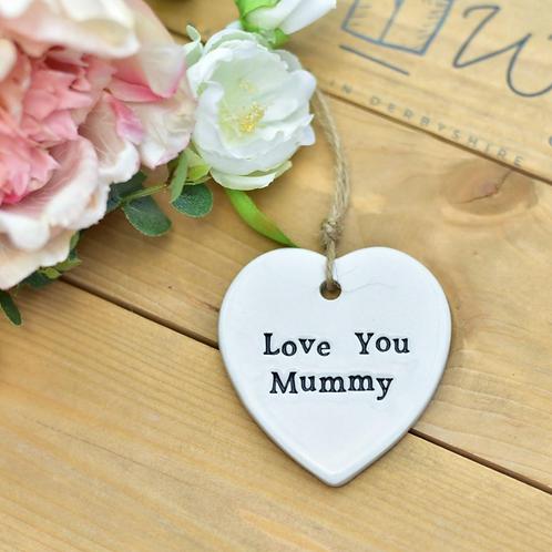 Ceramic hanging decoration - love you mummy