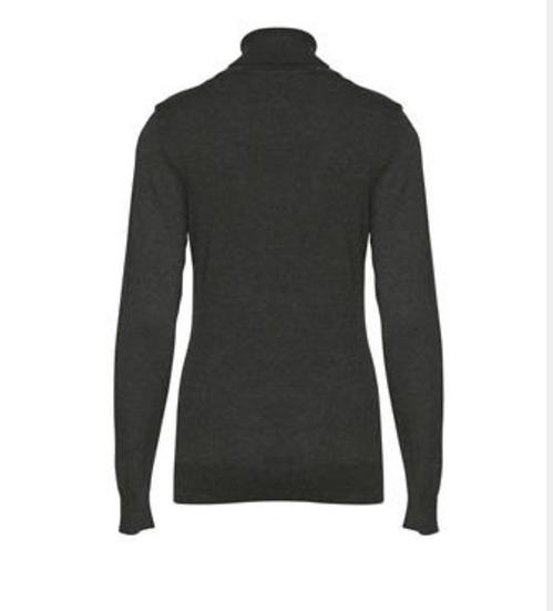 Fransa Zuvic navy roll neck jumper