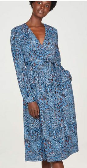 Thought Saraband Dress atlantic blue