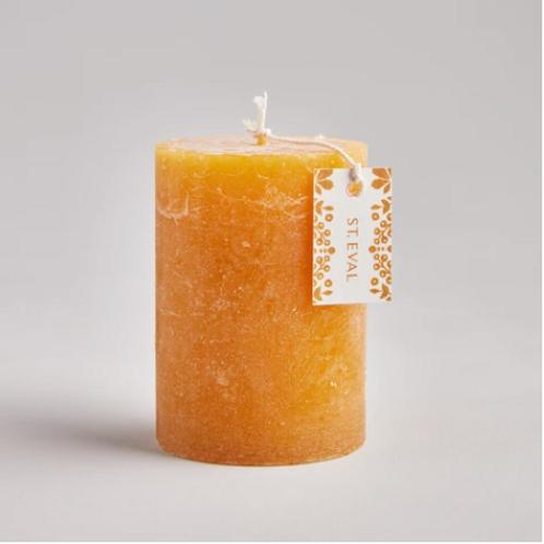 St Eval Amber pillar candle