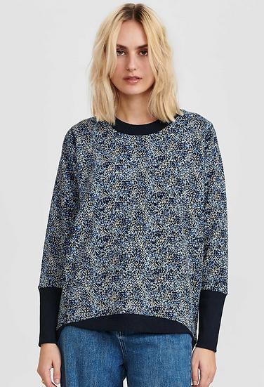 Numph Nunikola sweatshirt in dark sapphire