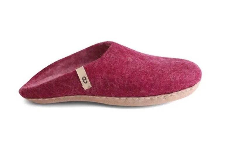 Ego Ethically made felt slippers - cerise