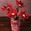Thumbnail: Pachamama Poinsettia felt flower stick