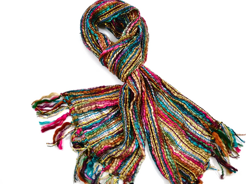 Recycled acrylic spruce colourway scarf