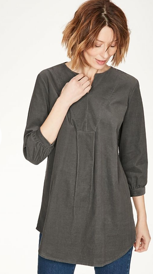 Thought Hiram tunic top in walnut grey