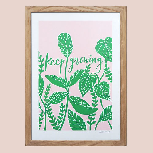 Keep Growing A4 print - frame NOT included