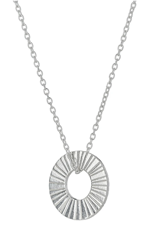 One & Eight Silver hoop necklace