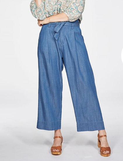 Thought Esther tie waist culottes