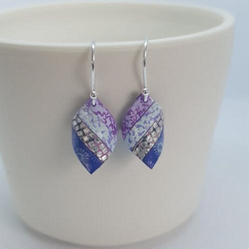 Circle & Dash handkerchief earrings lilacs