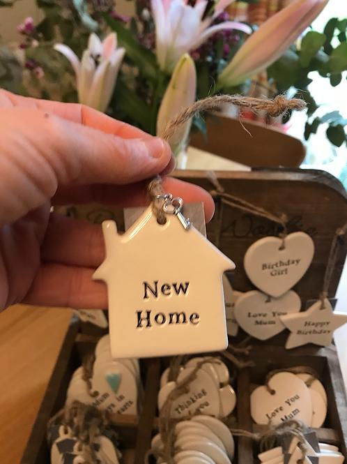 Ceramic hanging decoration - New home