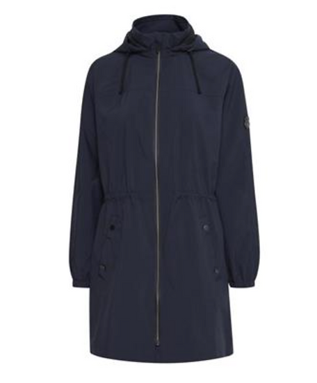 Fransa Pafas navy outerwear with hood