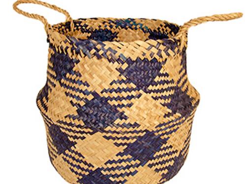 Seagrass basket - indigo