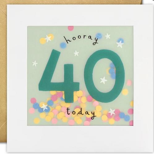 Shakies - Happy 40th Birthday card