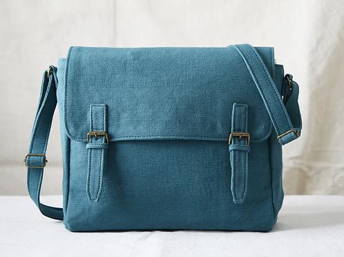 Aura Que Bihan satchel style bag in teal