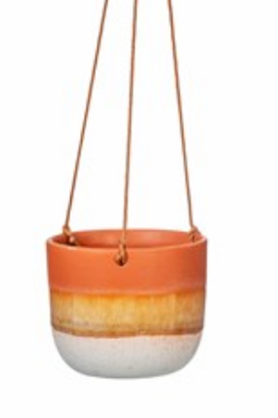 Sass and Belle Mojave brown hanging planter