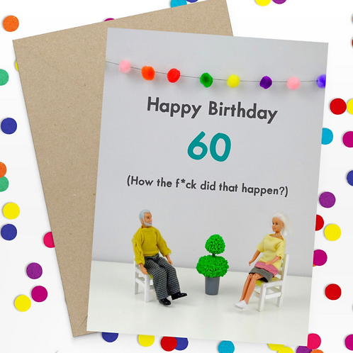 Bold & Bright happy birthday - 60