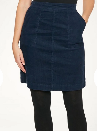 Thought Omelia cord skirt blueberry