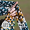 Thumbnail: Blue multi dot silk scarf