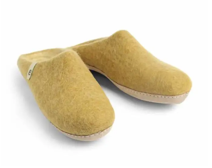 Ego Ethically made felt slippers - mustard