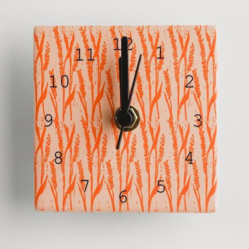 Dibujo design wheat mini clock